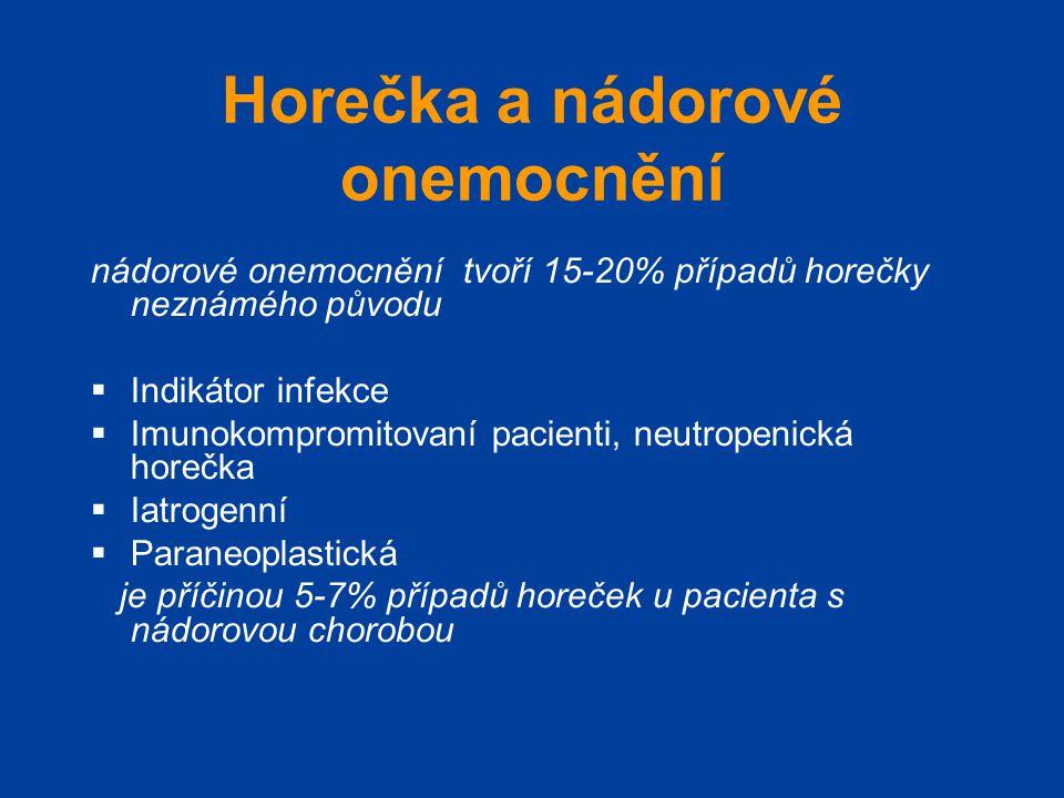 Horečka a nádorové onemocnění