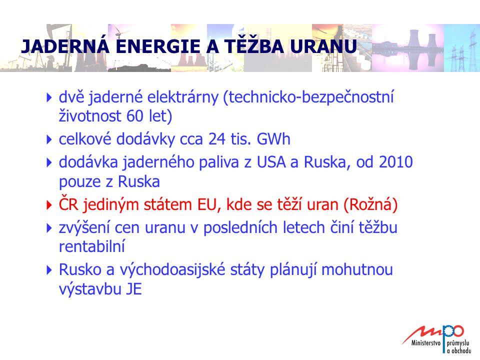 JADERNÁ ENERGIE A TĚŽBA URANU