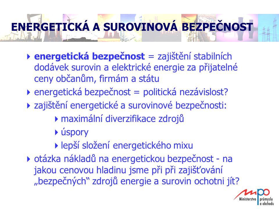 ENERGETICKÁ A SUROVINOVÁ BEZPEČNOST