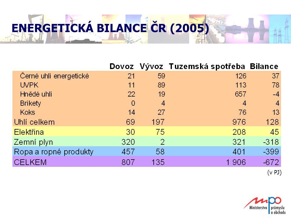 ENERGETICKÁ BILANCE ČR (2005)