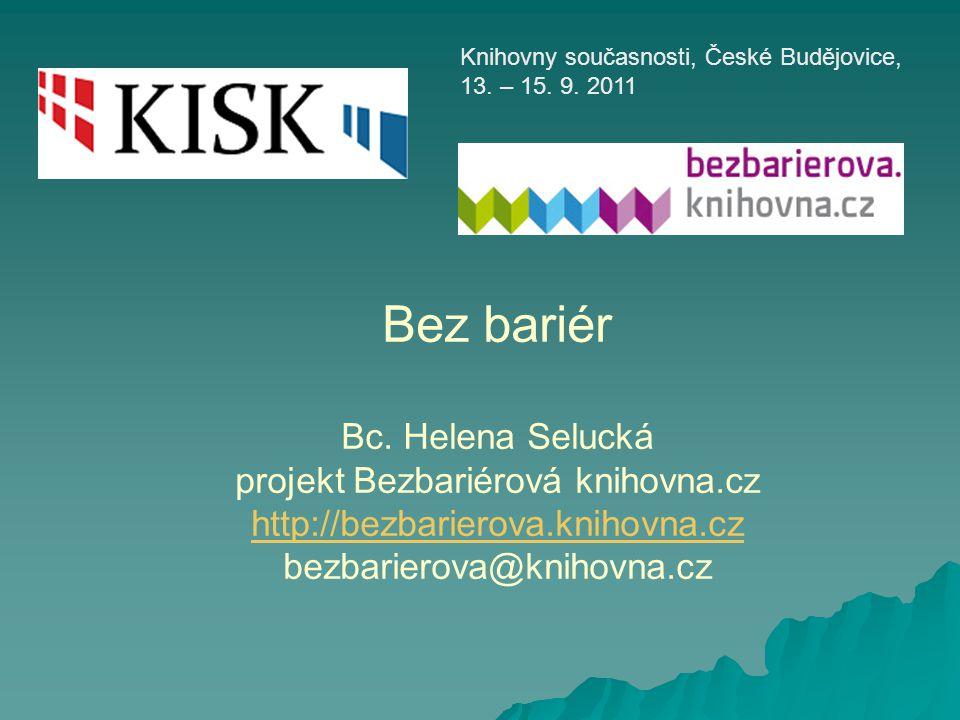 Knihovny současnosti, České Budějovice, 13. – 15. 9. 2011
