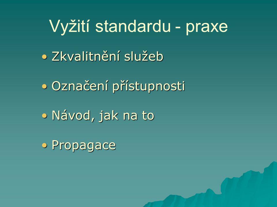 Vyžití standardu - praxe
