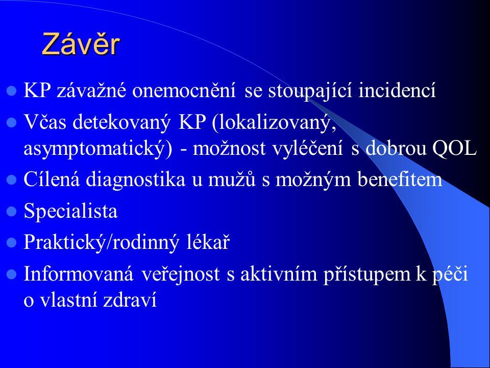 Závěr KP závažné onemocnění se stoupající incidencí