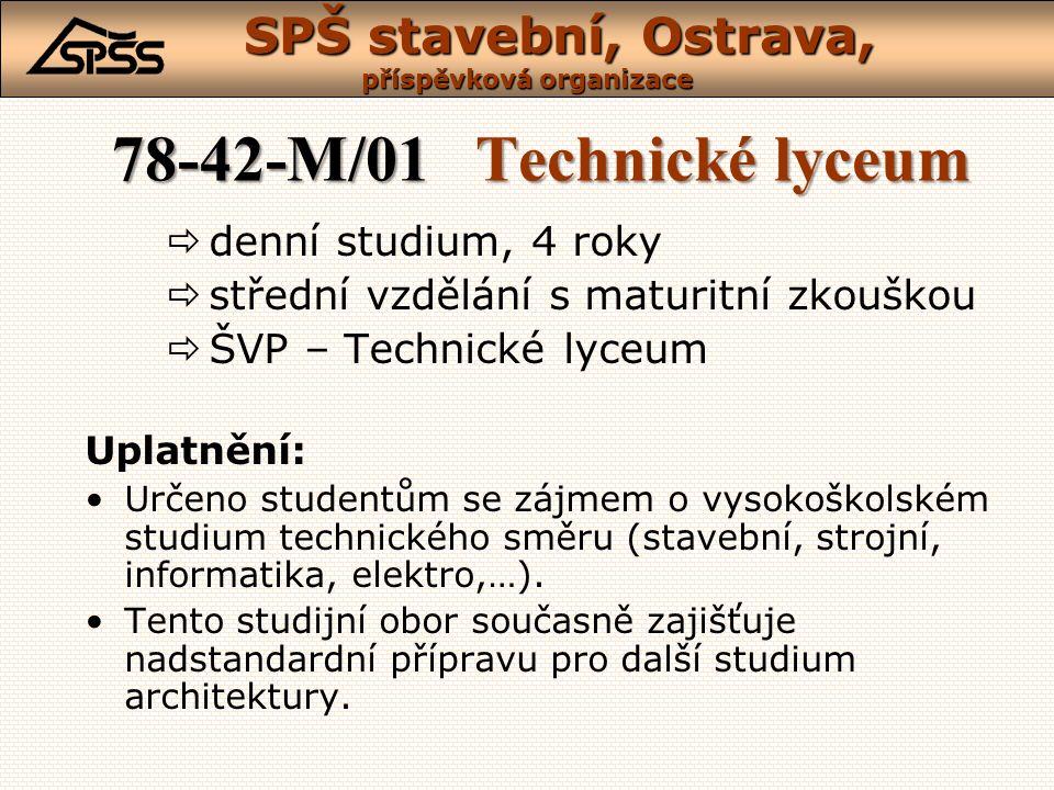 78-42-M/01 Technické lyceum denní studium, 4 roky