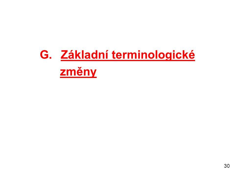 G. Základní terminologické