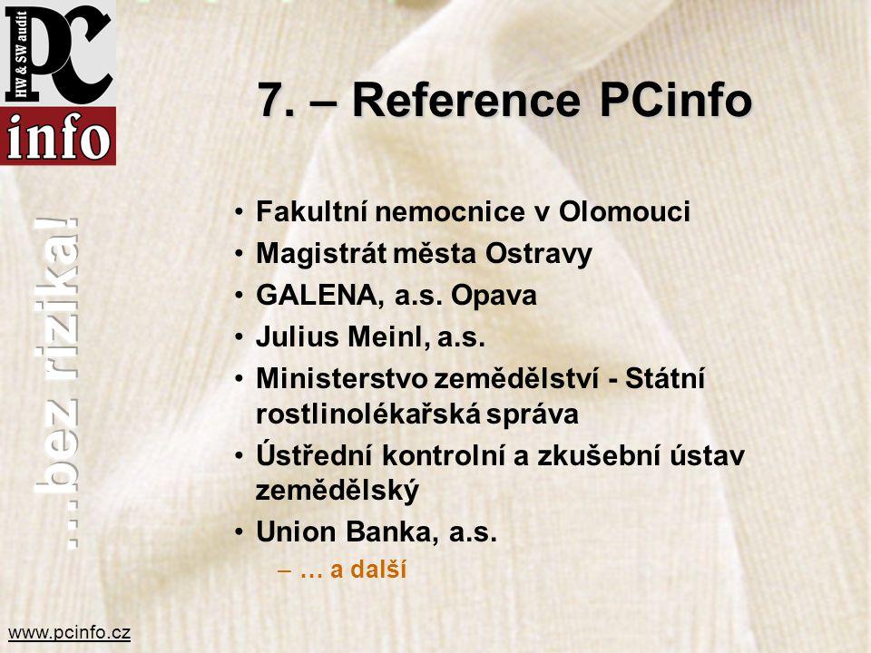 7. – Reference PCinfo Fakultní nemocnice v Olomouci