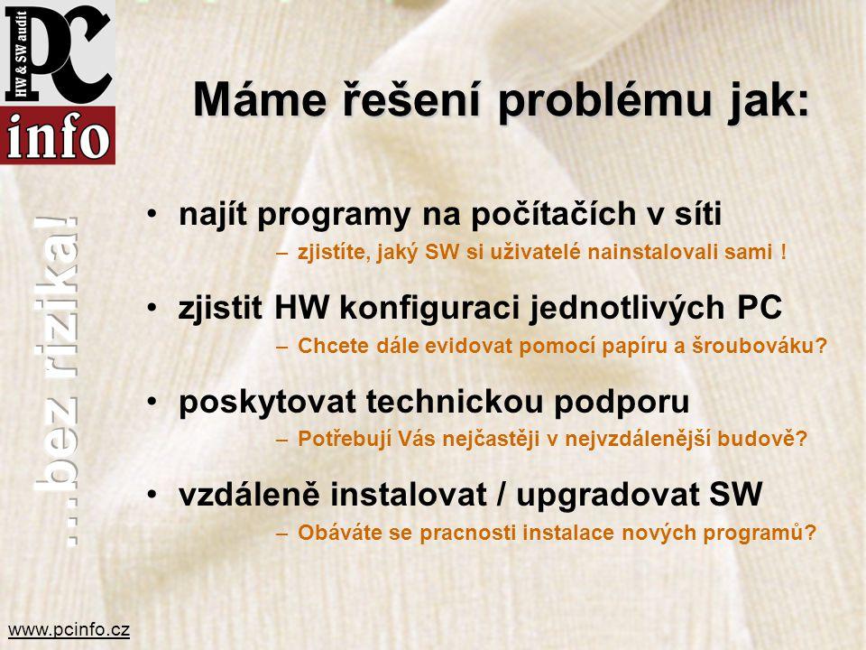 Máme řešení problému jak: