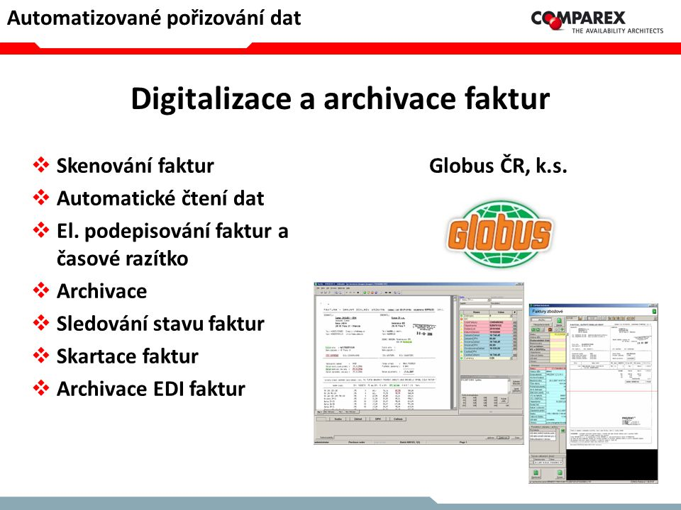 Digitalizace a archivace faktur