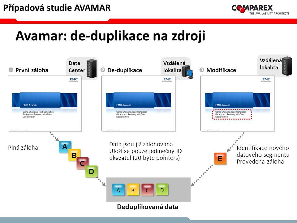 Avamar: de-duplikace na zdroji