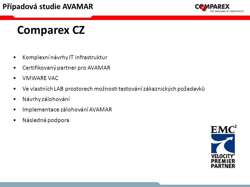 Comparex CZ Případová studie AVAMAR Komplexní návrhy IT infrastruktur