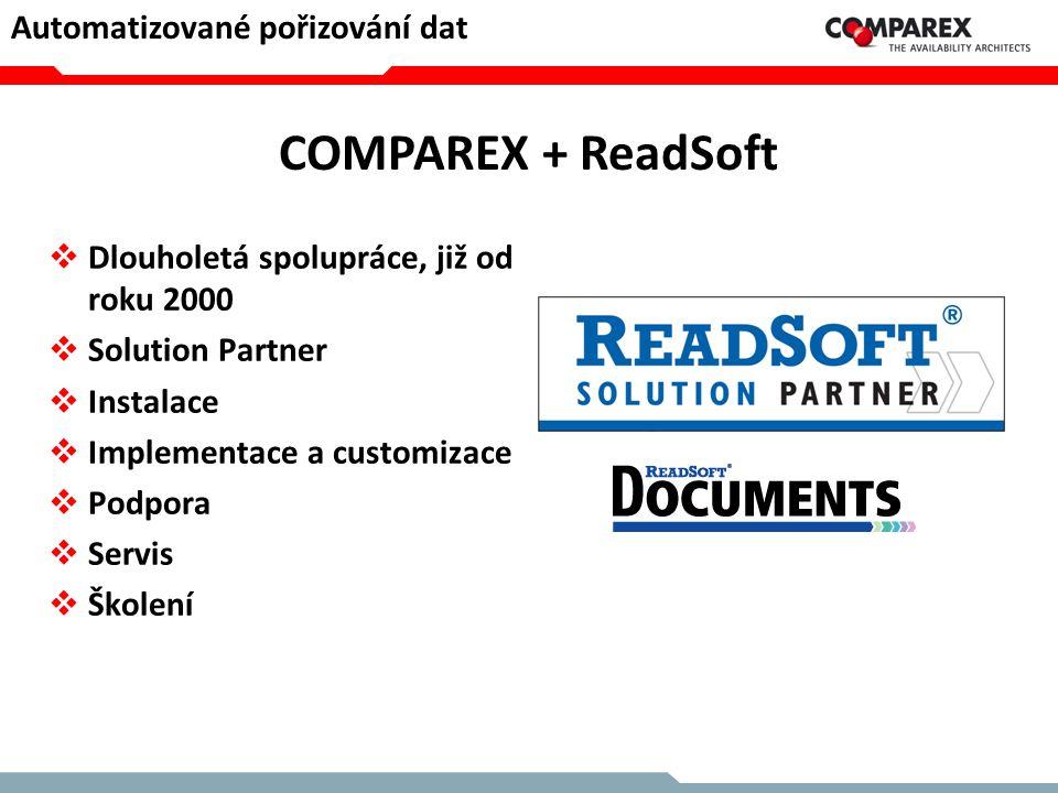 COMPAREX + ReadSoft Automatizované pořizování dat