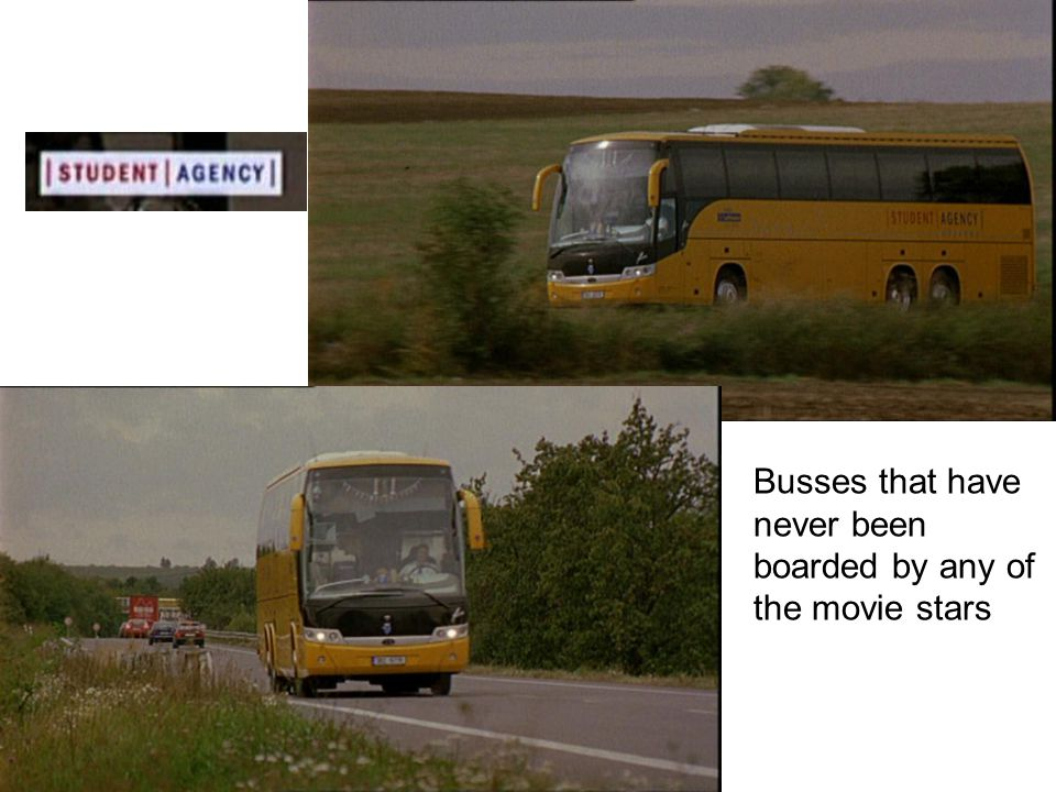 Busses that have never been boarded by any of the movie stars