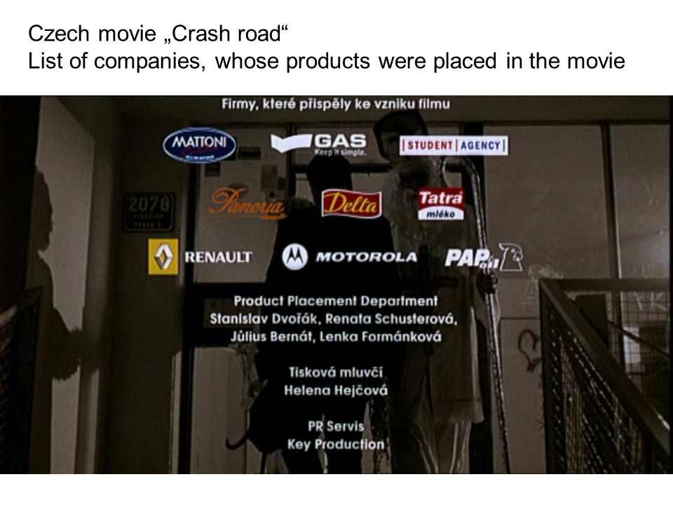 "Czech movie ""Crash road"