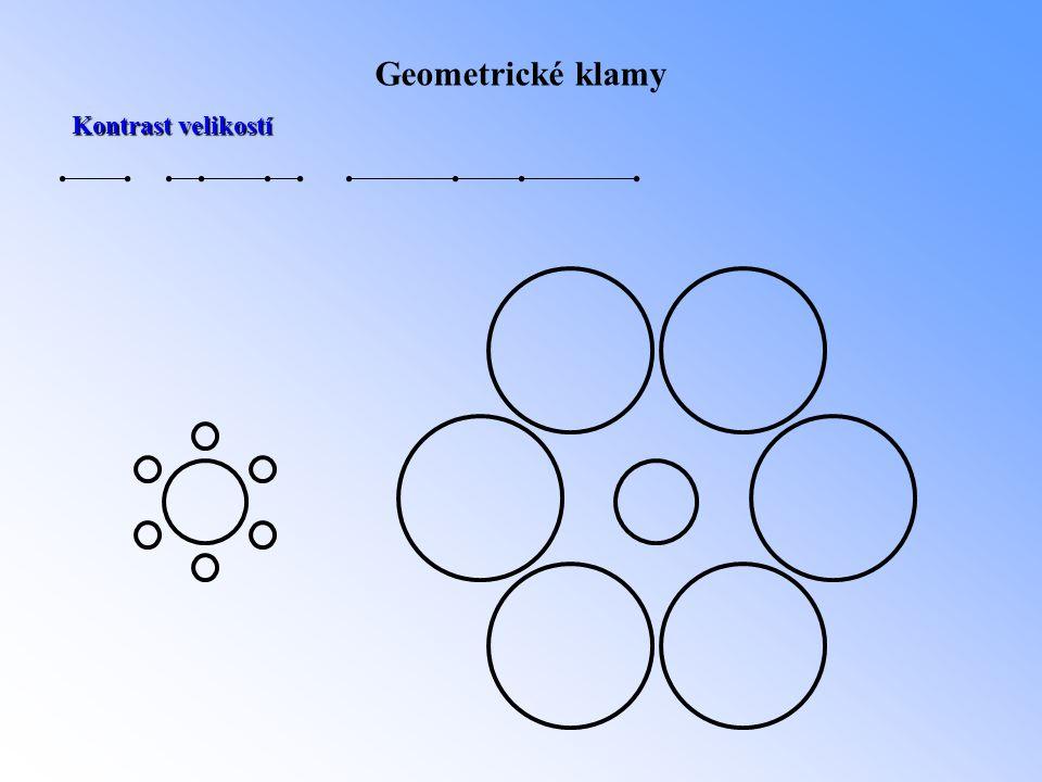 Geometrické klamy Kontrast velikostí