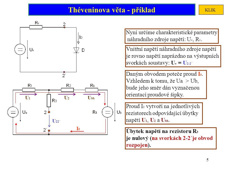 Théveninova věta - příklad