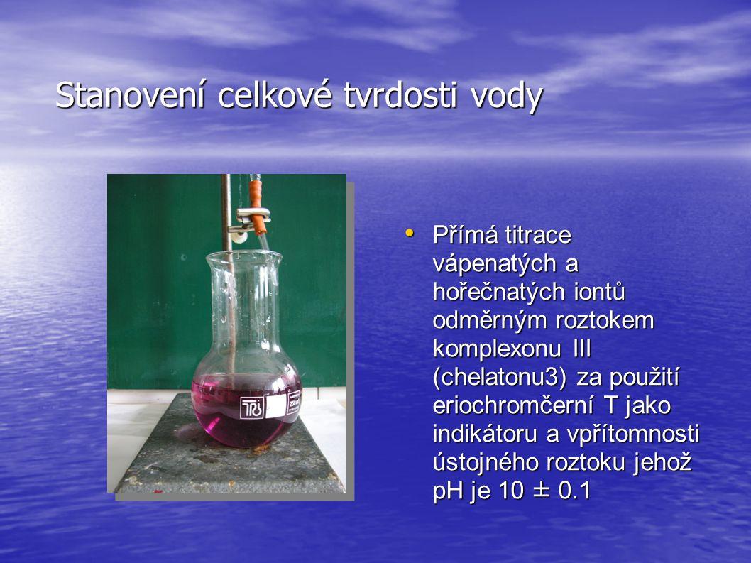 Stanovení celkové tvrdosti vody