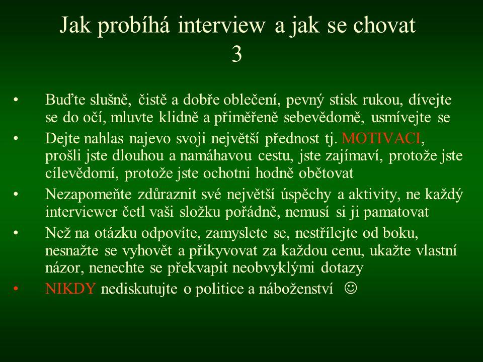 Jak probíhá interview a jak se chovat 3