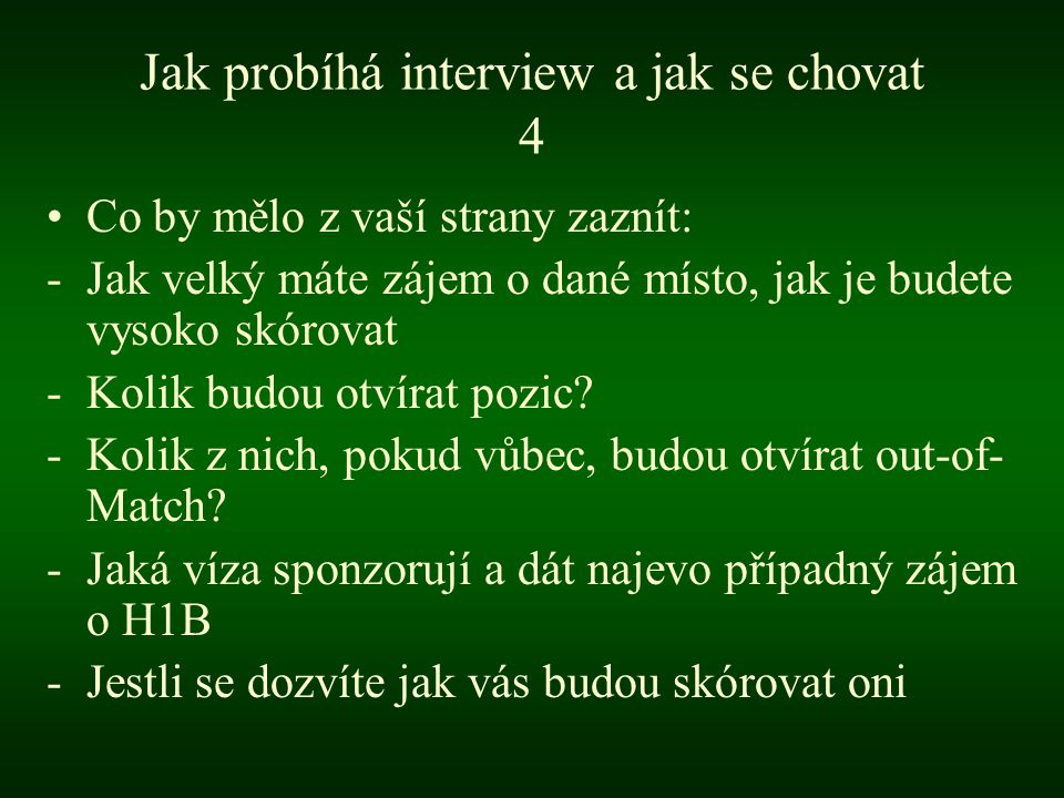 Jak probíhá interview a jak se chovat 4