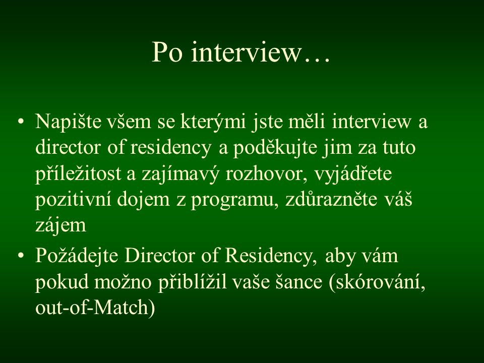 Po interview…