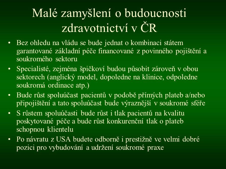 Malé zamyšlení o budoucnosti zdravotnictví v ČR