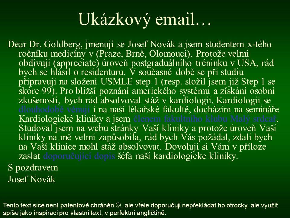 Ukázkový email…