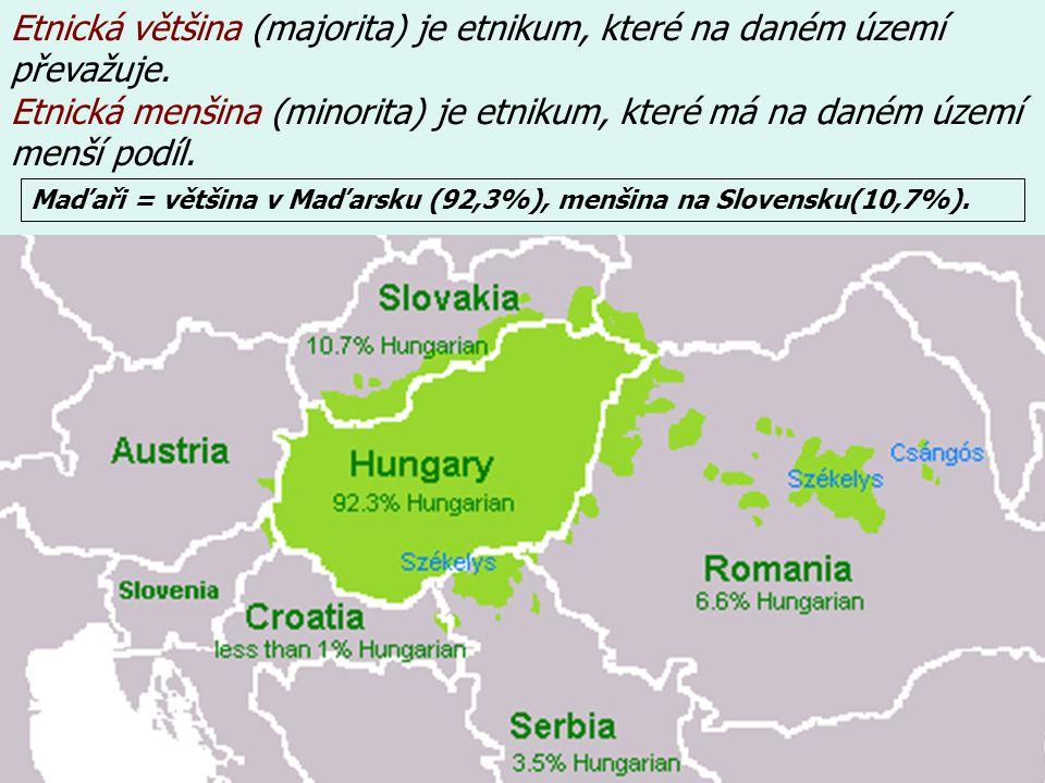 Etnická většina (majorita) je etnikum, které na daném území převažuje