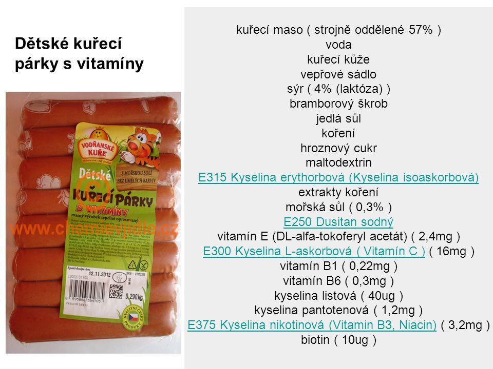 Dětské kuřecí párky s vitamíny