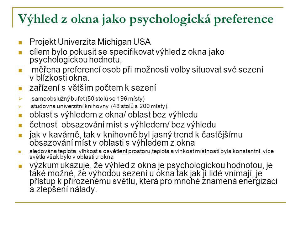 Výhled z okna jako psychologická preference
