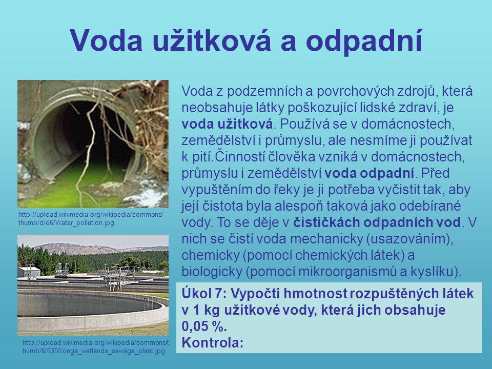 Voda užitková a odpadní