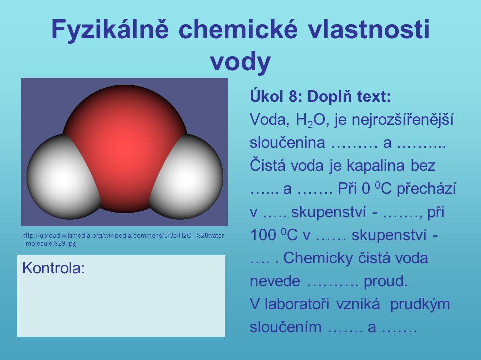 Fyzikálně chemické vlastnosti vody