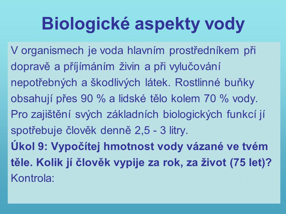 Biologické aspekty vody