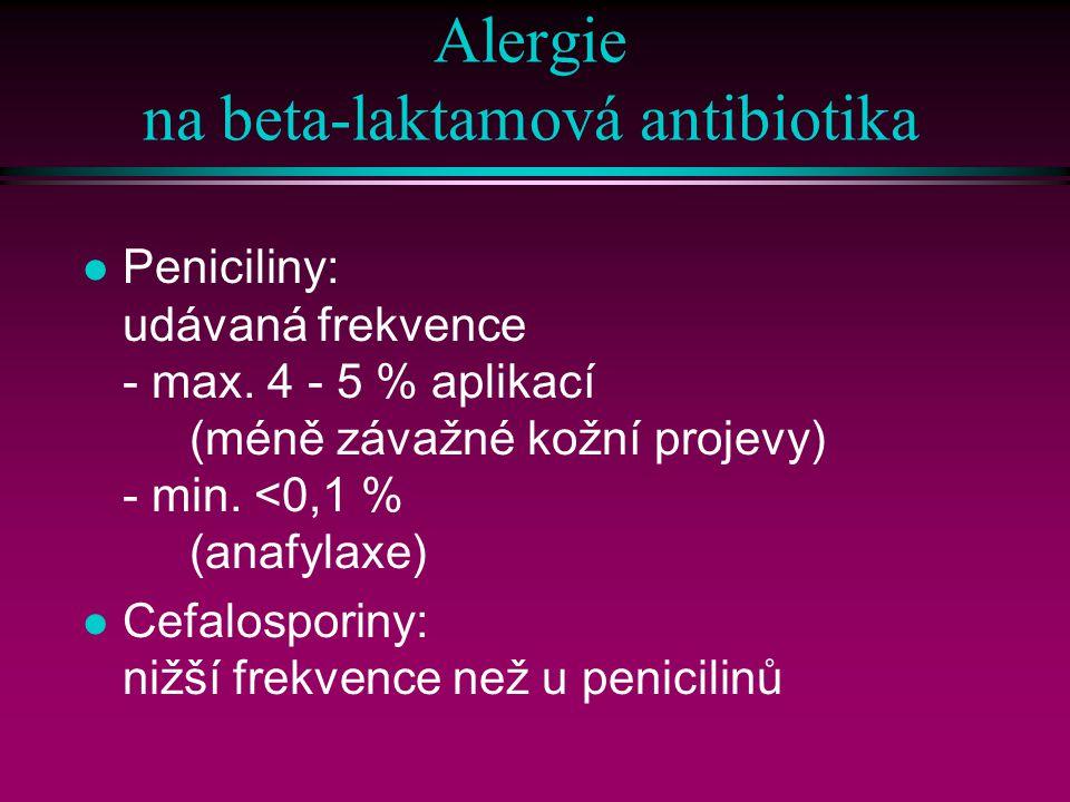 Alergie na beta-laktamová antibiotika
