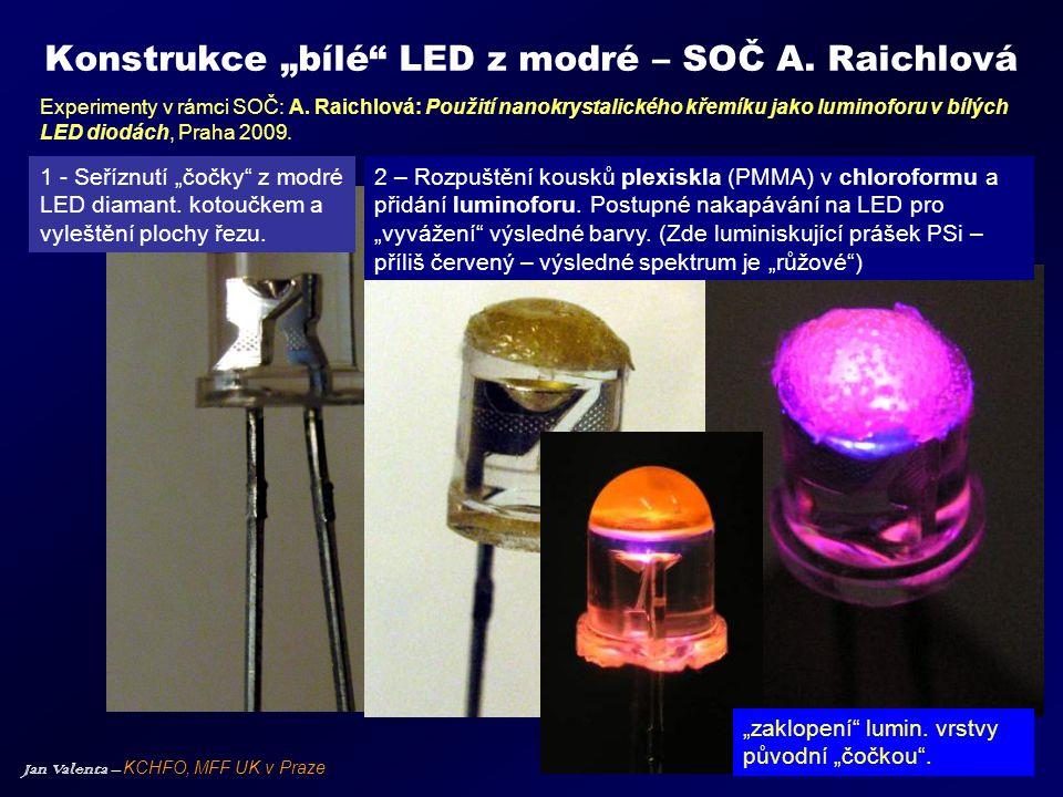 """Konstrukce """"bílé LED z modré – SOČ A. Raichlová"""