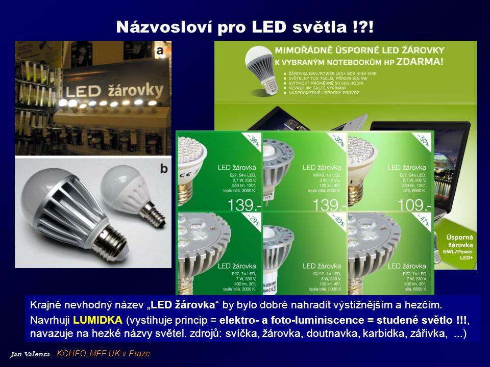 Názvosloví pro LED světla ! !