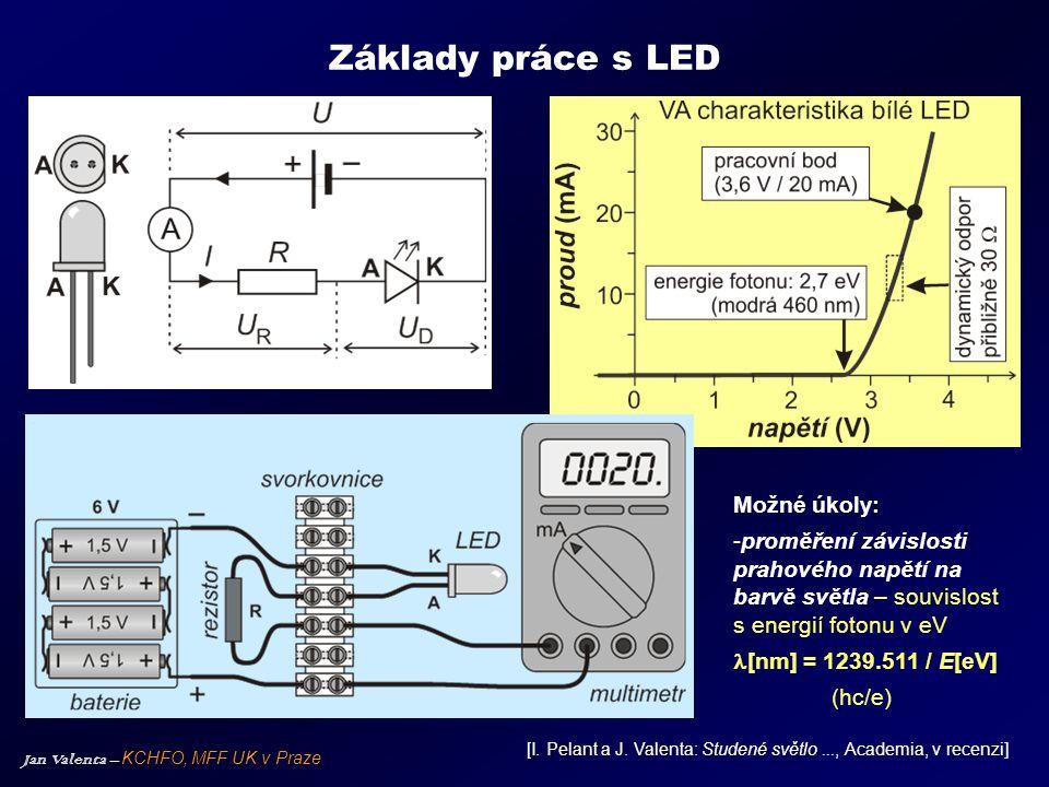 Základy práce s LED Možné úkoly:
