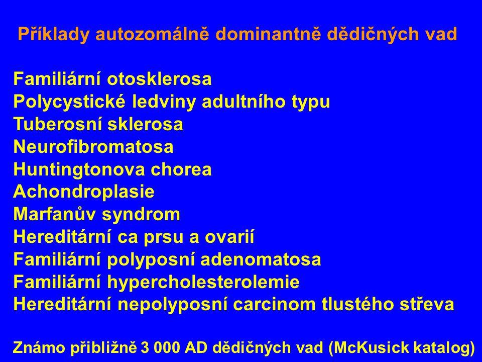 Familiární otosklerosa Polycystické ledviny adultního typu