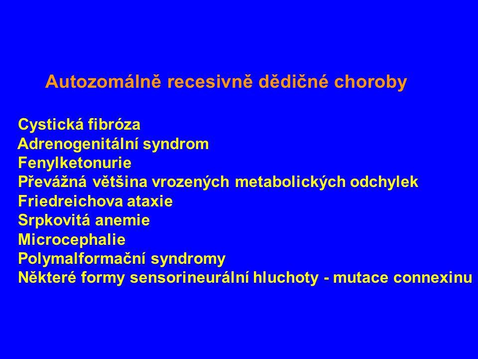 Autozomálně recesivně dědičné choroby