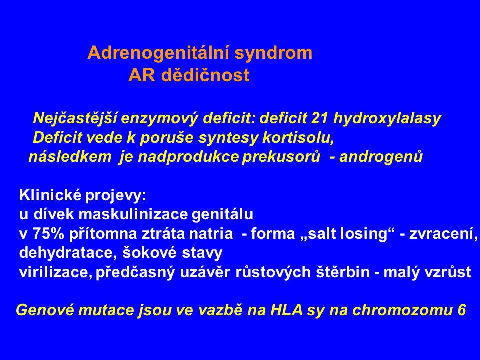 Adrenogenitální syndrom AR dědičnost