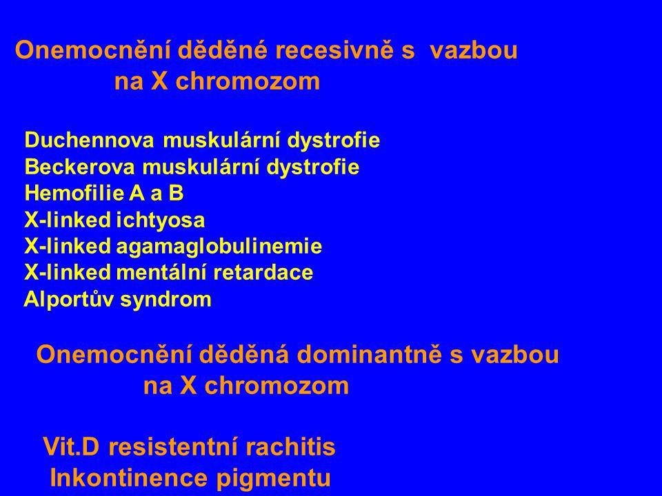 Onemocnění děděné recesivně s vazbou na X chromozom