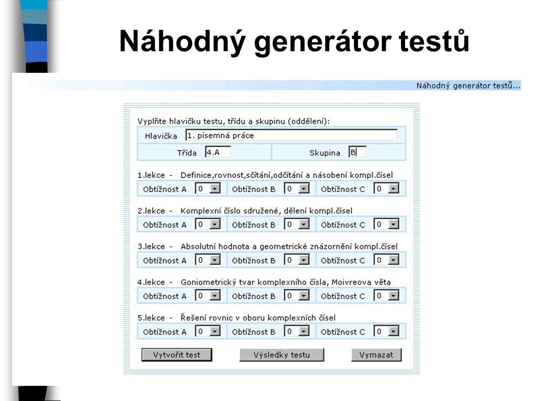 Náhodný generátor testů