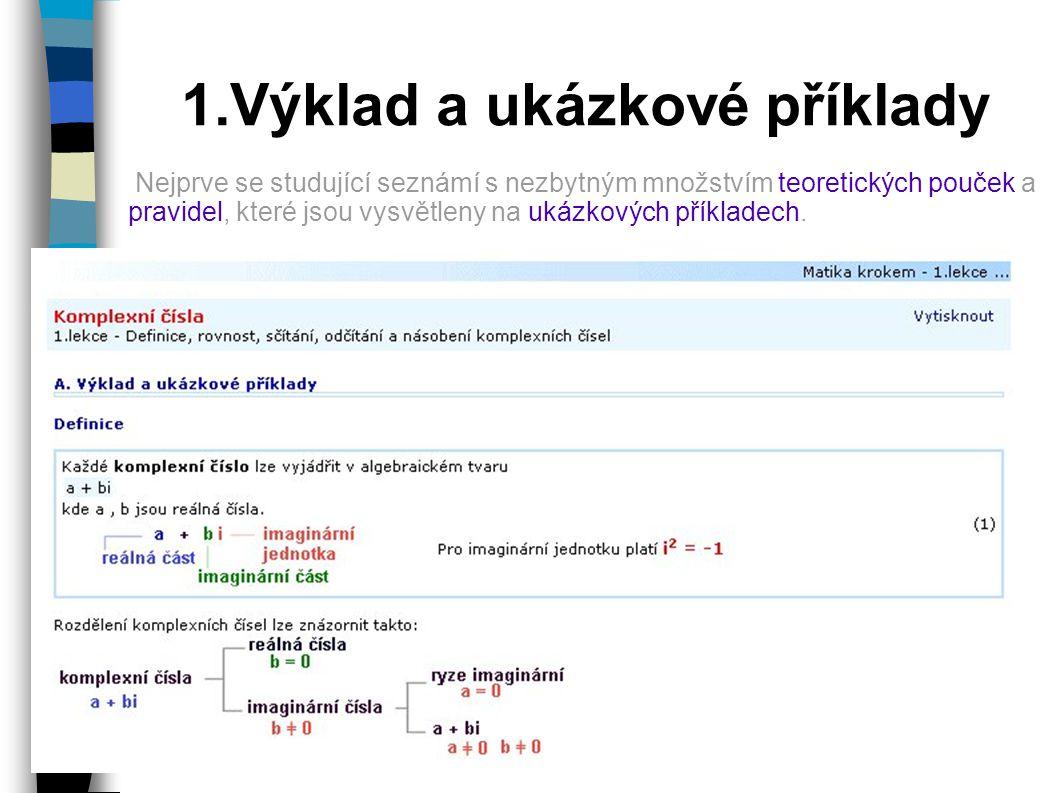 1.Výklad a ukázkové příklady