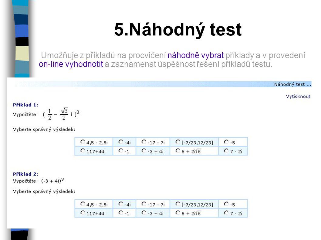 5.Náhodný test