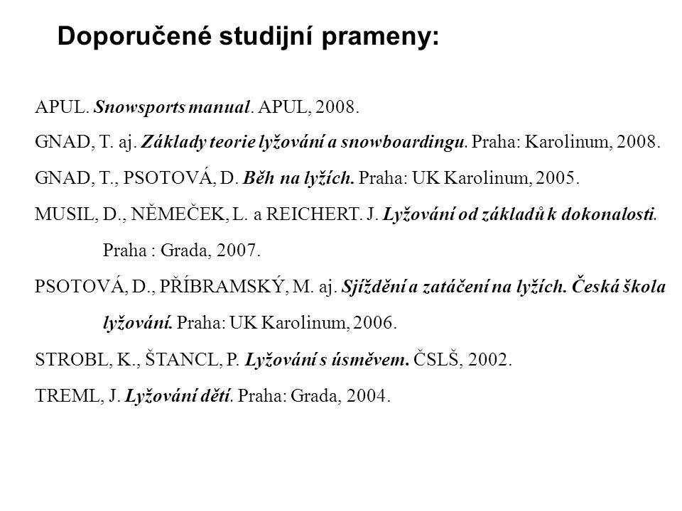 Doporučené studijní prameny: