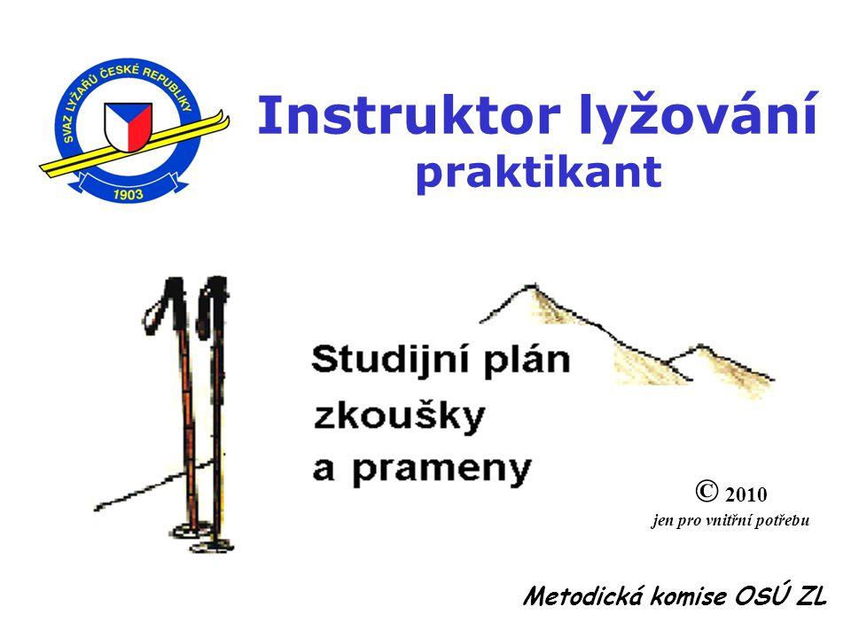 Instruktor lyžování praktikant jen pro vnitřní potřebu