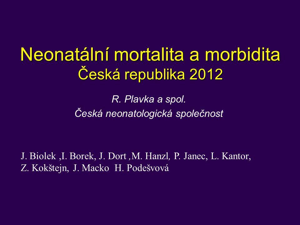 Neonatální mortalita a morbidita Česká republika 2012
