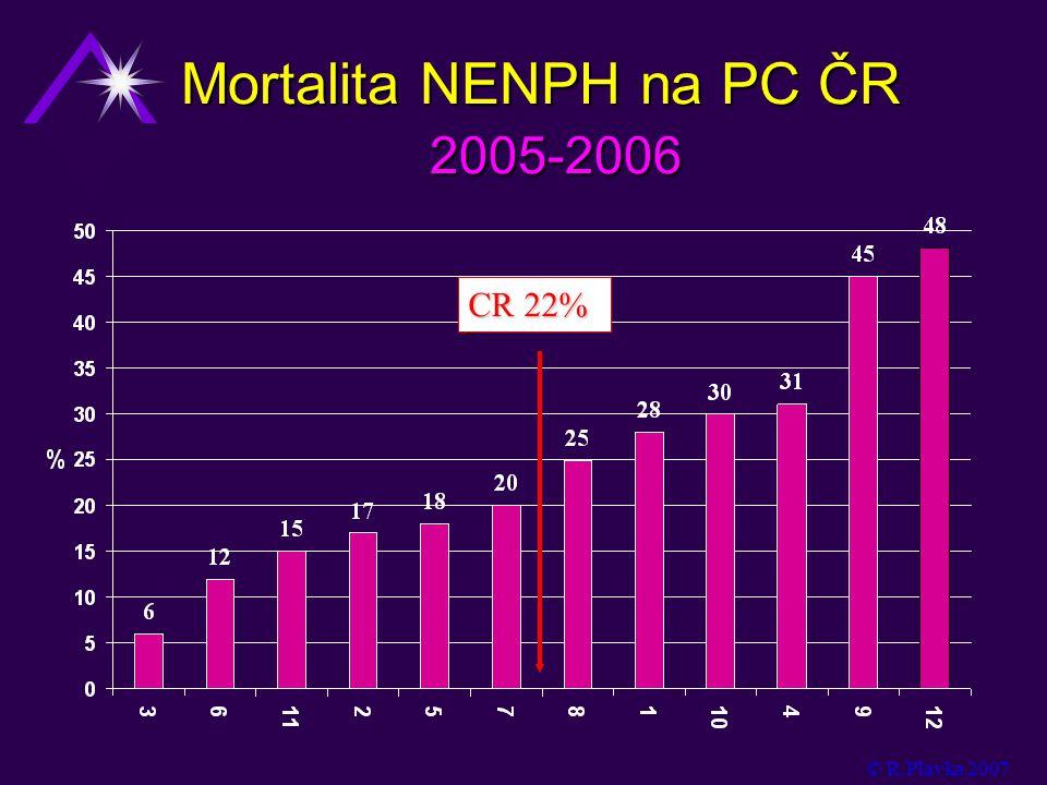 Mortalita NENPH na PC ČR 2005-2006