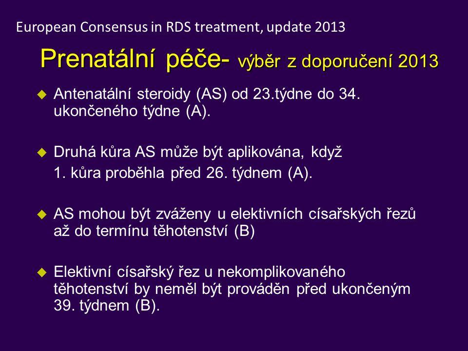 Prenatální péče- výběr z doporučení 2013