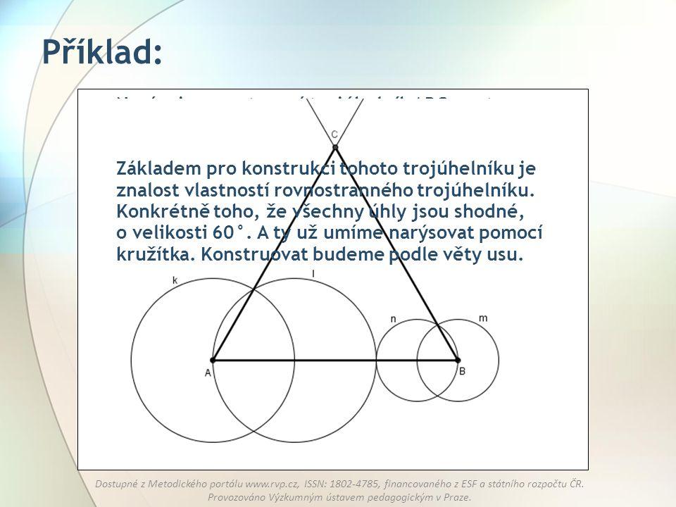 Příklad: Narýsuj rovnostranný trojúhelník ABC se stranou o délce 6 cm.