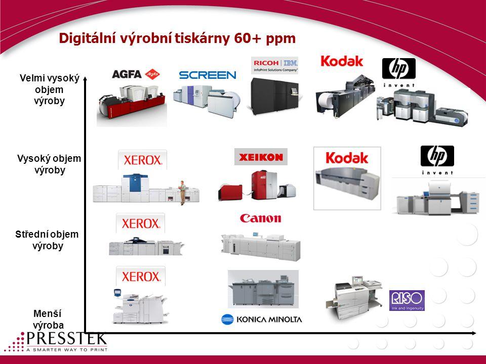 Digitální výrobní tiskárny 60+ ppm