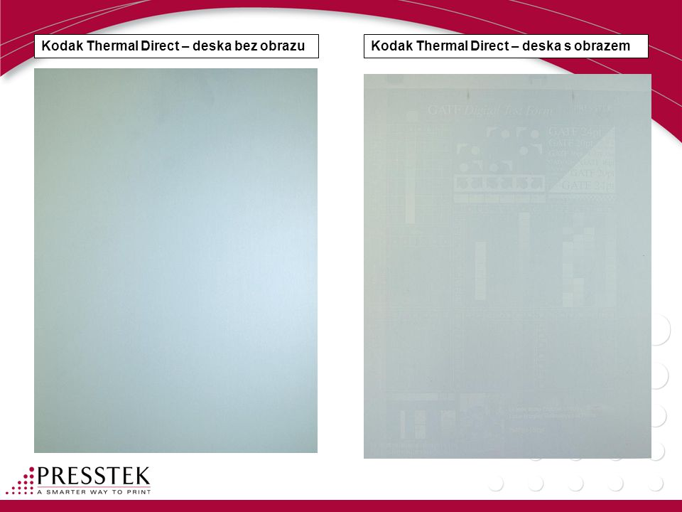 Kodak Thermal Direct – deska bez obrazu
